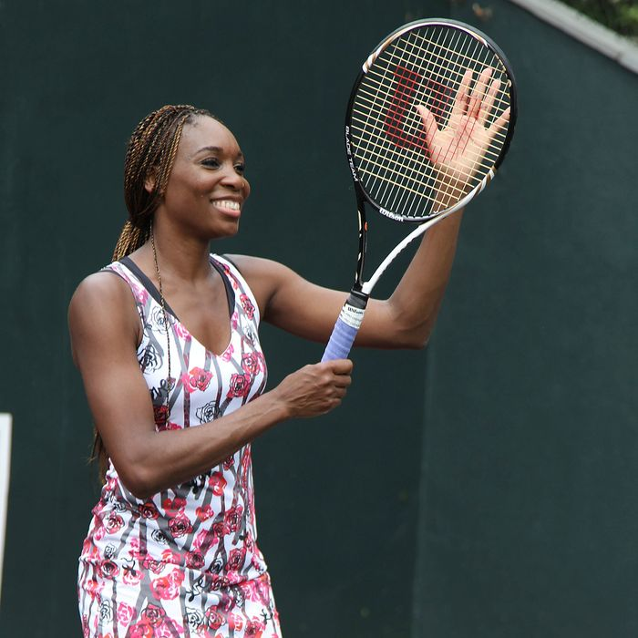 Venus Williams, wearing one of her own designs.