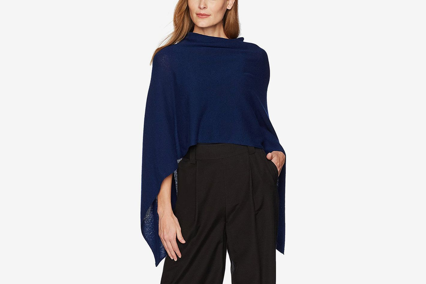 Lark & Ro Women's 100% Cashmere Soft Topper Sweater