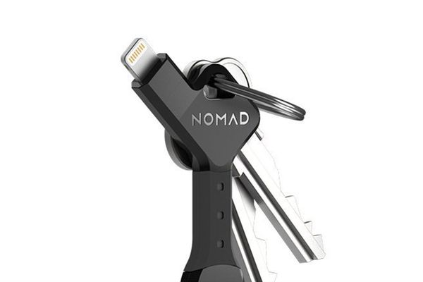 nomadkey charger keychain- strategist best travel accessories and best travel phone charger