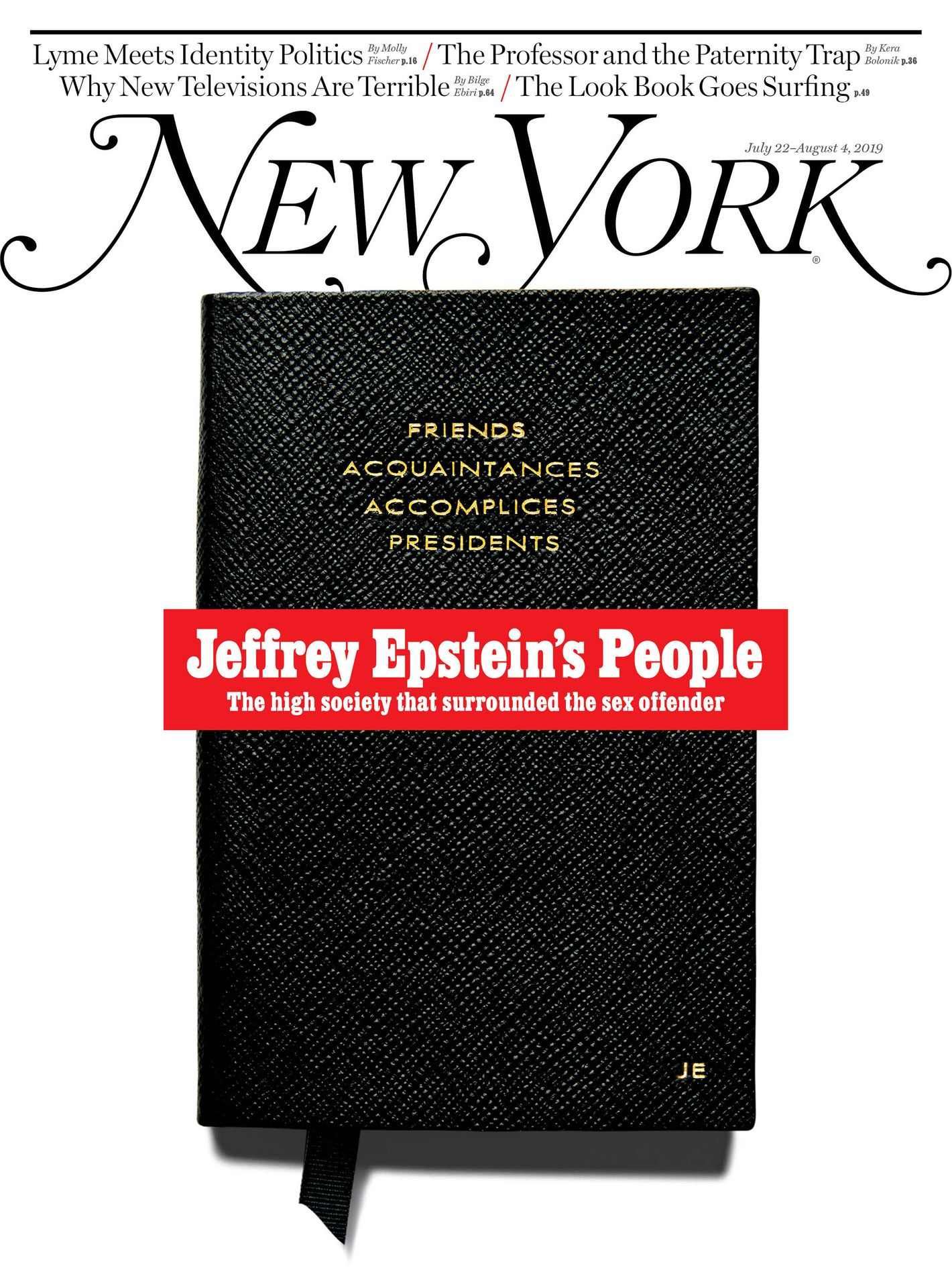 On the Cover: Jeffrey Epstein's 'Little Black Book'