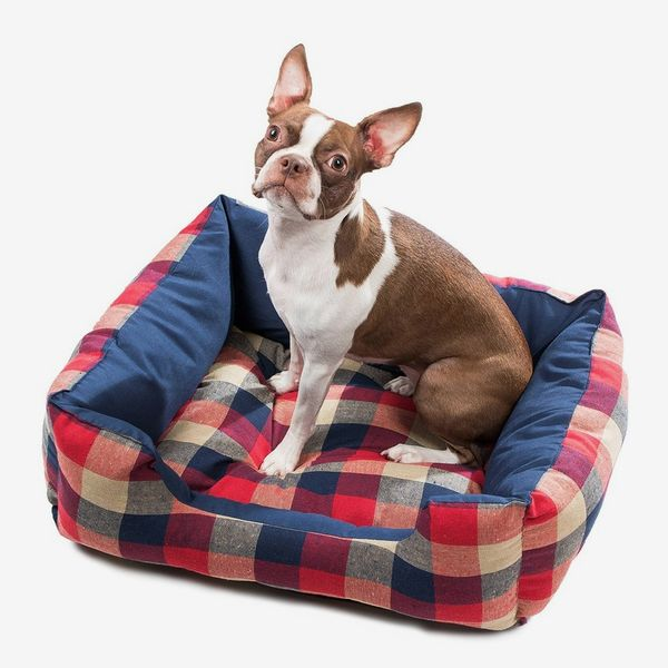 Duck River Textile Hasley Square Red/Navy Plaid Pet Bed