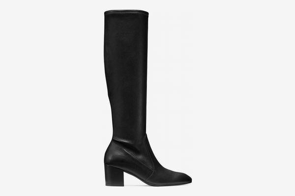Stuart Weitzman The Liviana Boot, Black Suede
