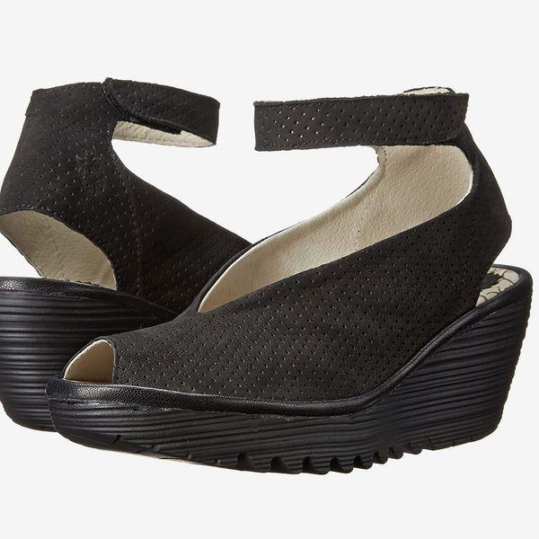 FLY London Women's Yala Perforated Wedge Sandal