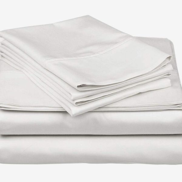 White Solid 1 Pc Fitted Sheet Soft 100/% Cotton 400 Thread Count All US Size**