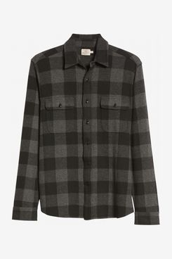 Faherty Legend Buffalo Check Flannel Button-Up Shirt
