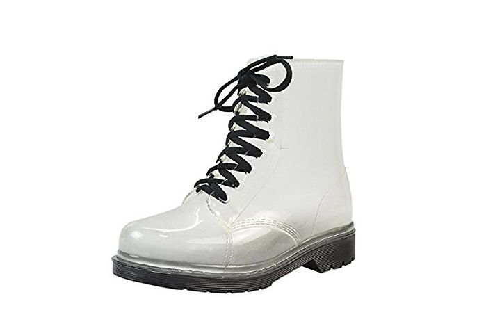 Women's Transparent Waterproof Rain Boots