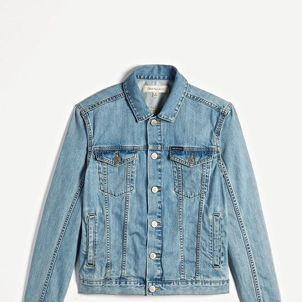 Calvin Klein Light Wash Denim-Trucker Jacket