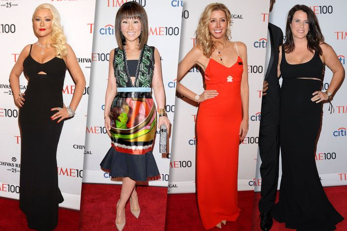 Christina Aguilera, Alina Cho, Sarah Blakely, and Lisa Oz.