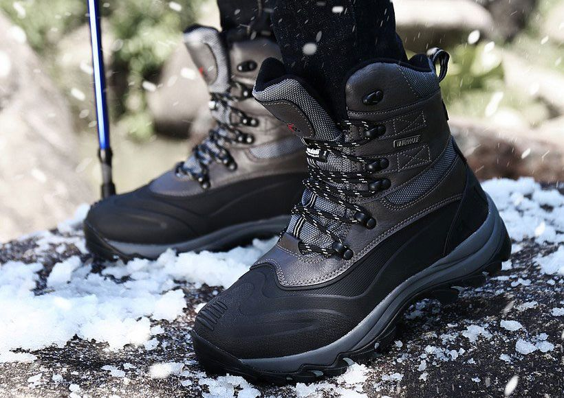 Men's Shoes Fashion Super Warm Men Mart Boots Leather High Top Ankle Boots Couples Winter Casual Rubber Snow Boots Men Leisure Shoes