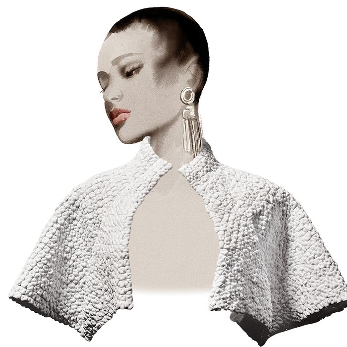 Peter Langner's embroidered bolero.