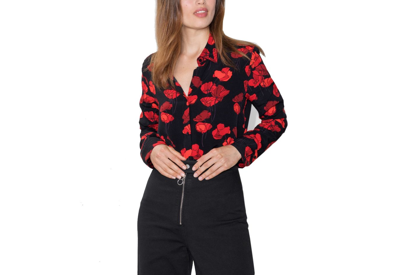 & Other Stories Poppy Print Blouse