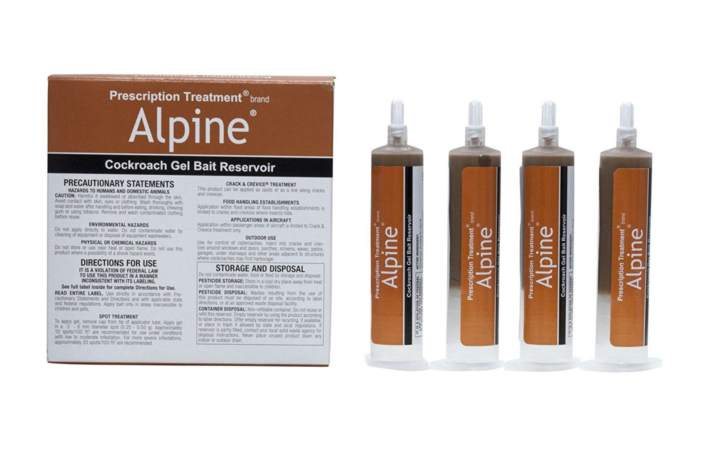 Alpine CockRoach Gel Bait 4 (30 Gram) Tubes