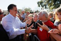 Republican presidential candidate and former Massachusetts Gov. Mitt Romney