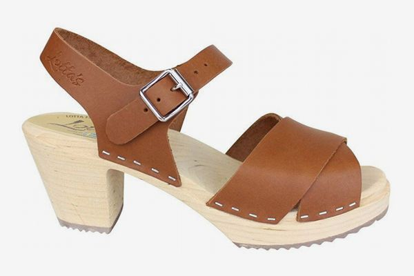 Lotta From Stockholm Cross Over Clogs in Tan