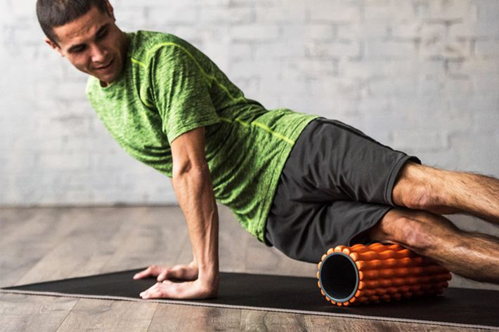 orange restore deep tissue foam roller - strategist best fitness gear and best foam follers