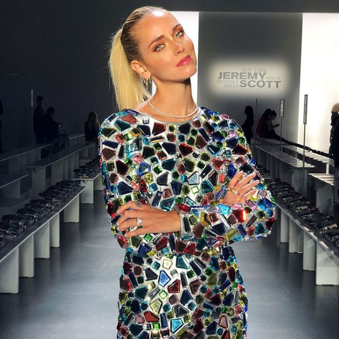 5c6e4eff983 Chiara Ferragni Attends Fashion Week Days After Wedding