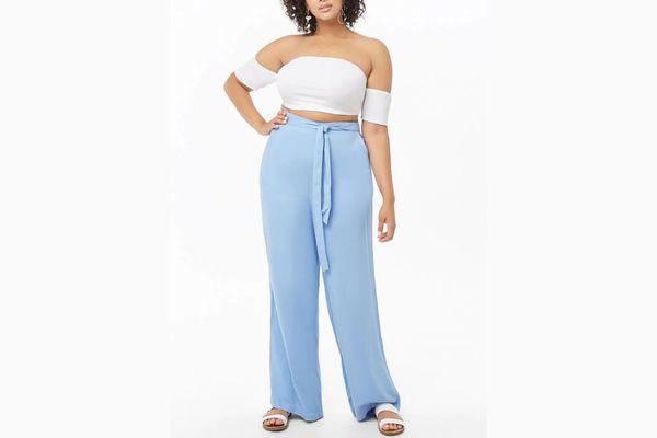 Plus Size Wide Leg Pants