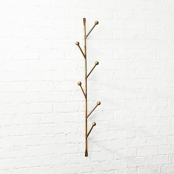 CB2 Barker Vertical Wall Mounted Coat Rack