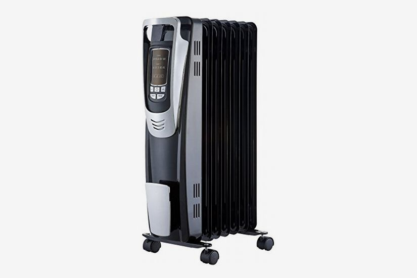 PELONIS Electric, 1500W Portable Oil-Filled Radiator Space Heater with Programmable Thermostat