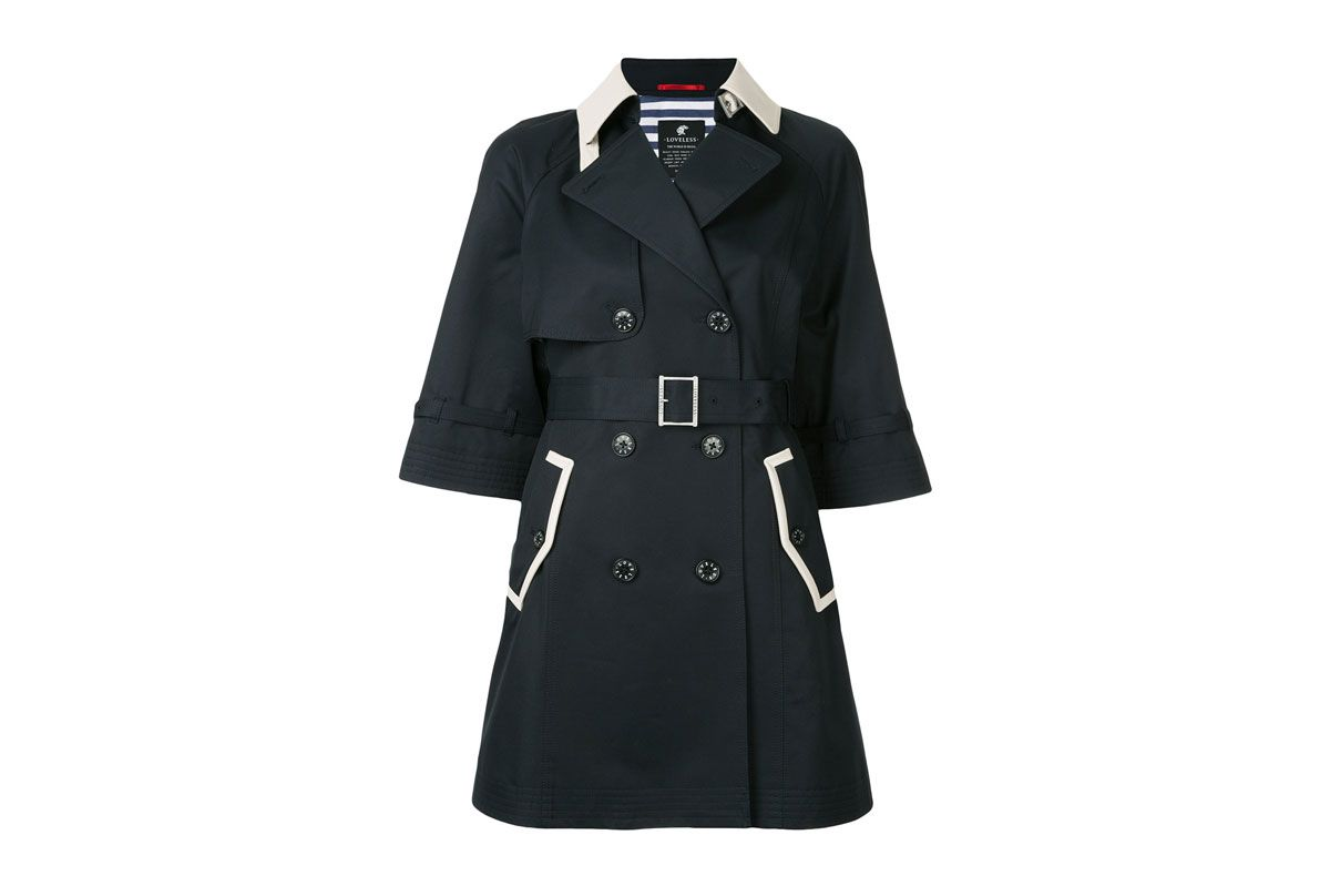LOVELESS contrast collar coat