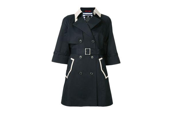 LOVELESS contrast collar coat
