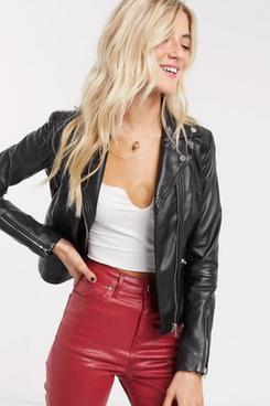 Barney's Originals Belina Real Leather Jacket