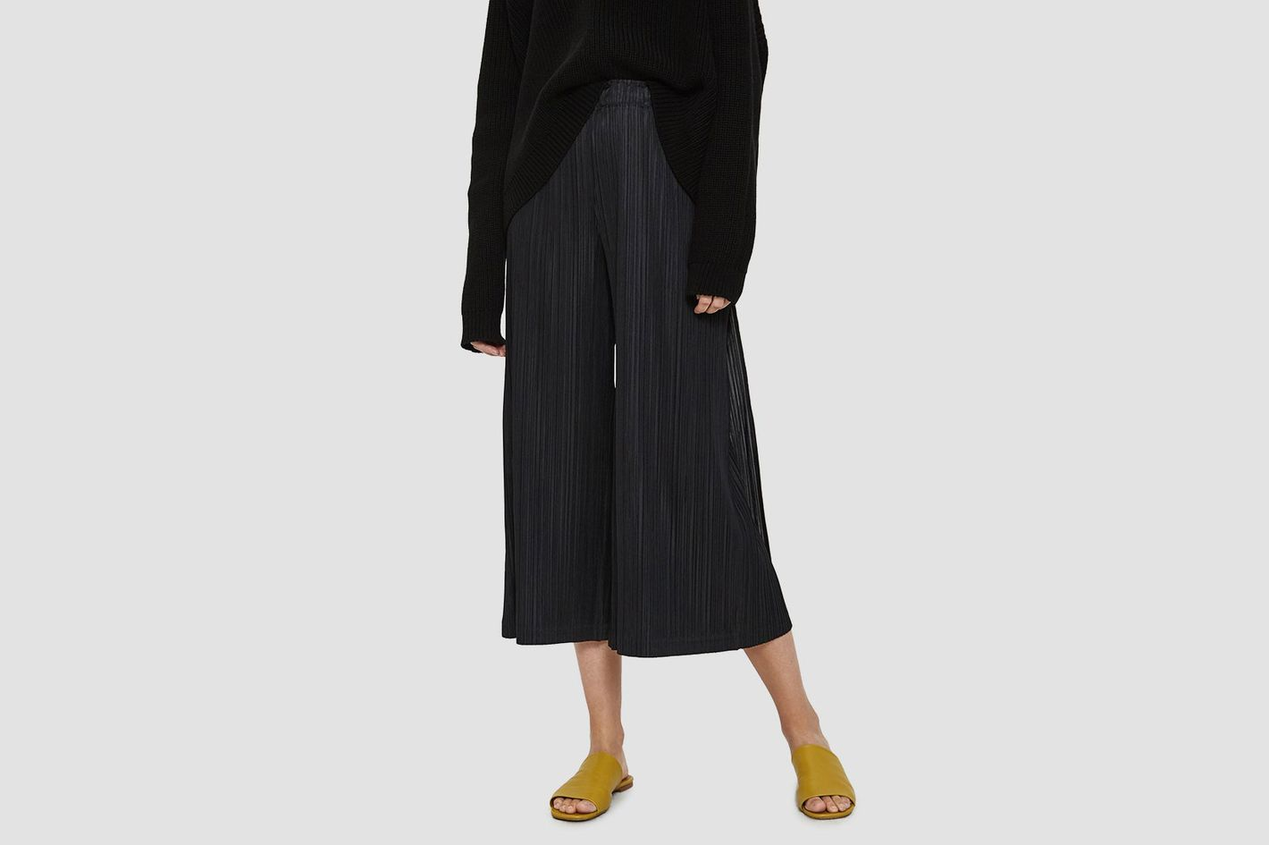 Pleats Please by Issey Miyake Thicker Bottoms in Black