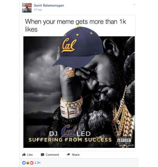 Martin Shkreli joined UC Berkeley Memes For Edgy Teens