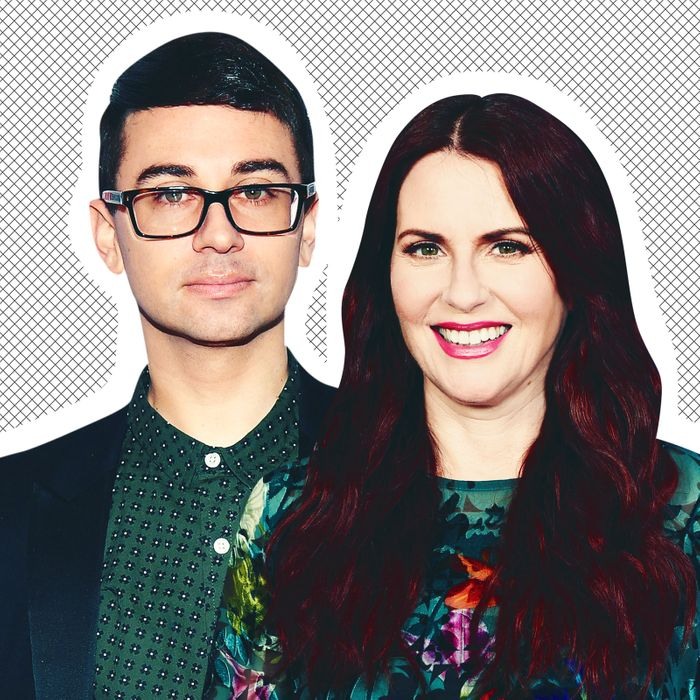 Christian Siriano and Megan Mullally.