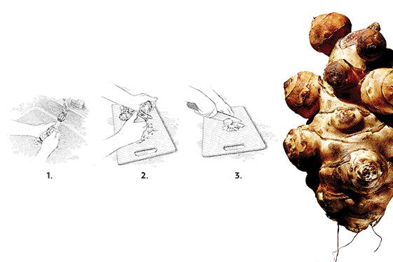In Season: Sunchoke Soup With Crispy Chestnuts