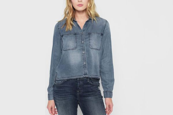 7 for All Mankind Step Hem Denim Shirt