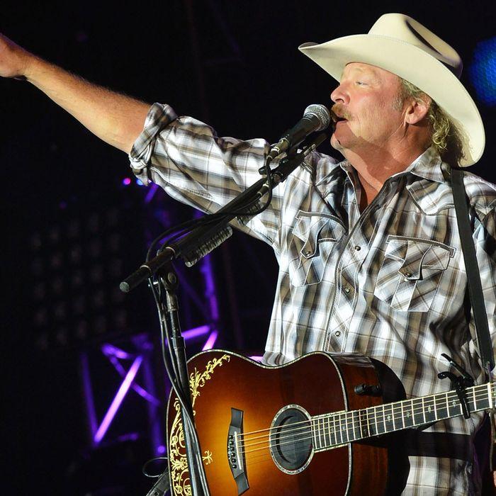 Alan Jackson performs at the 2012 BamaJam Music and Arts Festival - Day 2 on BamaJam Farms in Enterprise Alabama on June 15, 2012