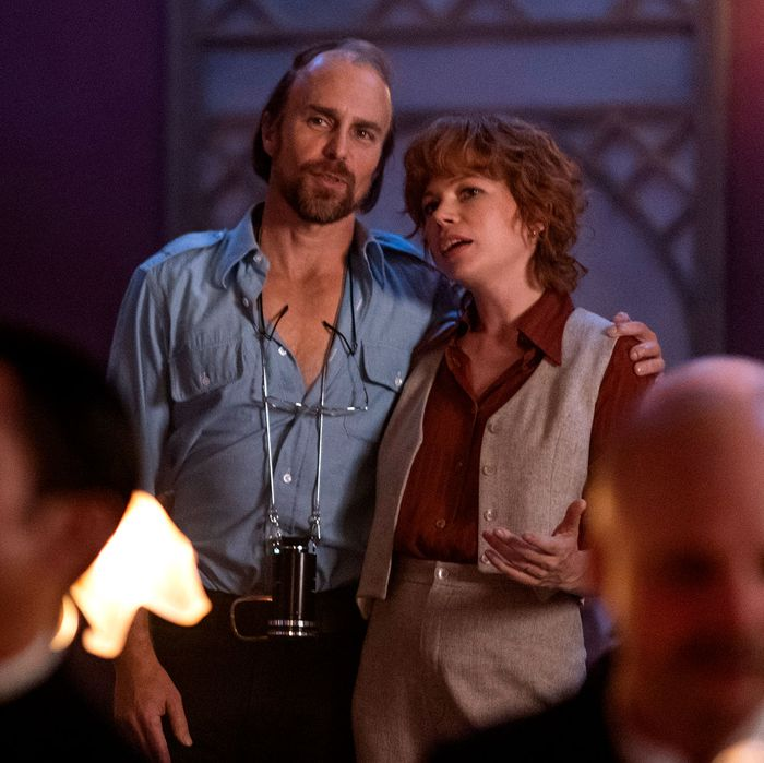 Sam Rockwell as Bob Fosse and Michelle Williams as Gwen Verdon.