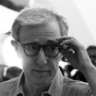 US director Woody Allen poses during the photocall of