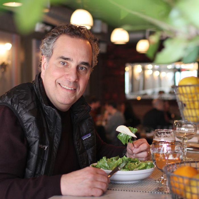 Lomonaco at Resto, where he had an escarole and pear salad.