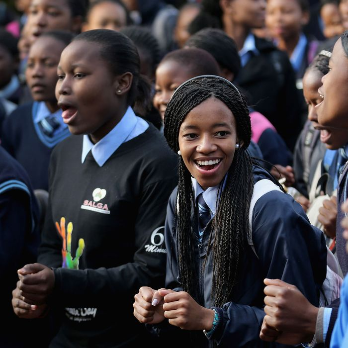 Schoolgirls in South Africa.