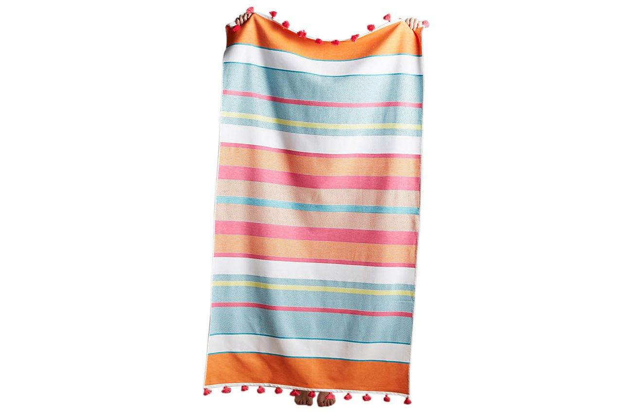 Tasseled Stripes Beach Towel