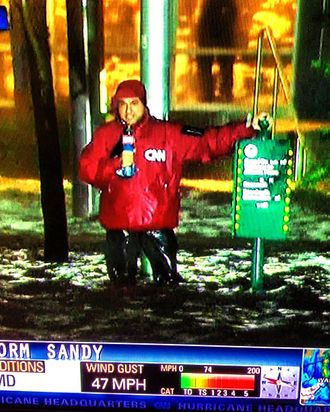 Ali Velshi and the offending windbreaker.