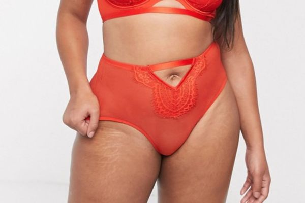 Playful Promises X Gabi Fresh Mesh Brief in Red