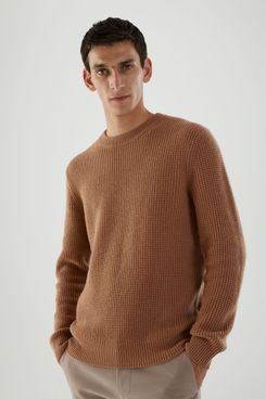 Mens Dissident Misty Knitted Jumper Crew Neck Soft Cotton Pullover Sweater Top