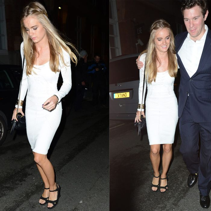 Cressida Bonas, with another bloke last year.