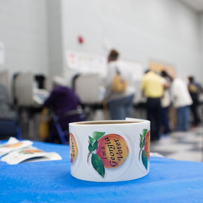 A Georgia polling site.