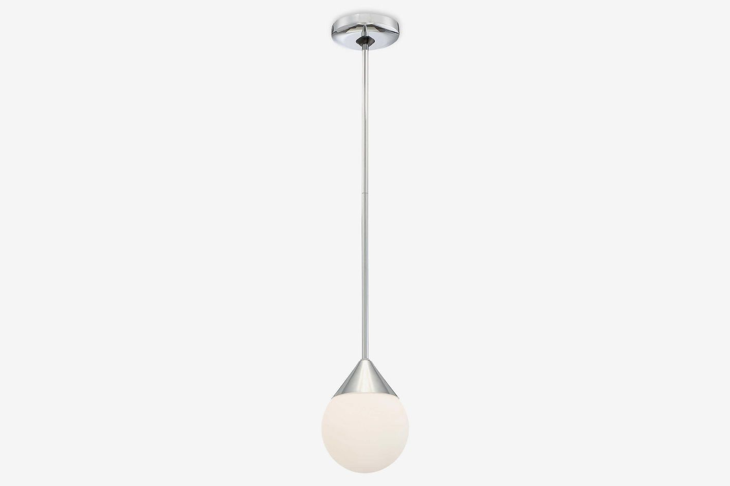 George Kovacs Simple 1-Light 8-Inch Pendant in Chrome
