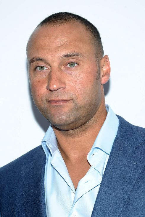 "Professional Baseball Player Derek Jeter attends the ""Mike Tyson: Undisputed Truth"" Broadway opening Night at Longacre Theatre on August 2, 2012 in New York City."