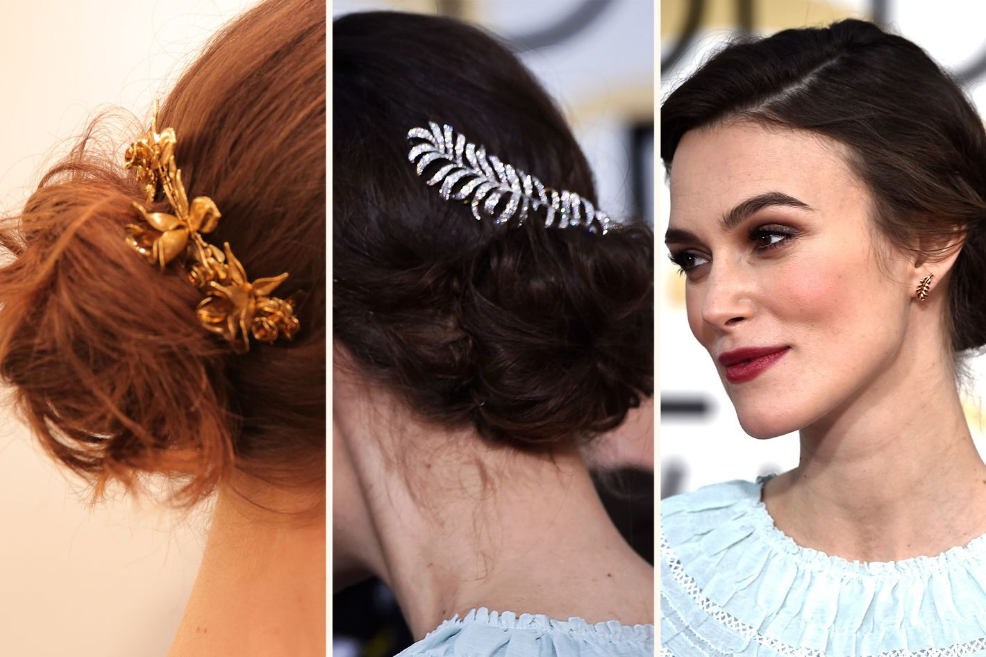 3 Easy Fancy Ways To Wear A Hair Comb Like Keira Knightley
