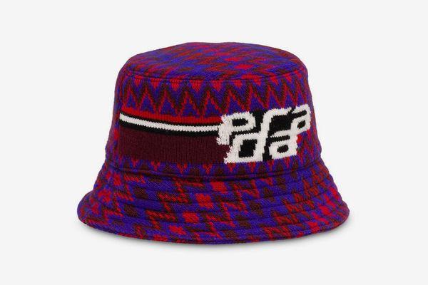Prada Zigzag Logo Bucket Hat