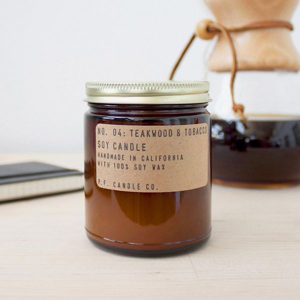 P.F. Candle Co. No. 04: Teakwood & Tobacco Soy Candle