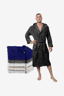 Twinzen 100% Cotton Bathrobe - Towelling Bath Robe (Men's)