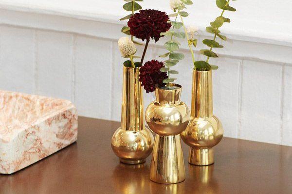 Skultuna Set Of Three Engraved Bead Vases - Skultuna X Tenfold