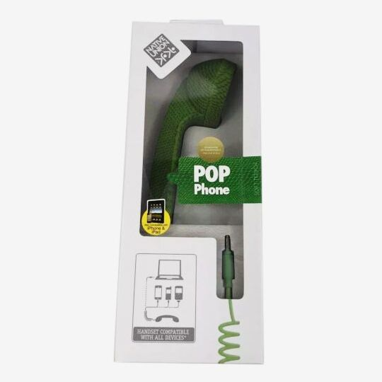 Native Union Pop Phone Retro Handset, Snake Green